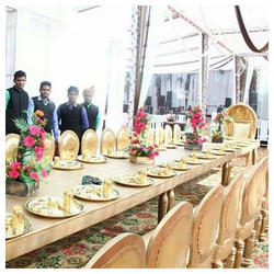 Wedding Wooden Golden Dinner Chair