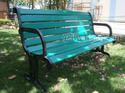 Greek Cast Iron Garden Bench