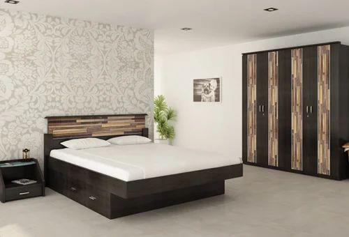 Royal Decor Luxury Furniture Wooden Black Fusion Bedroom Set ...