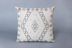 mbroidery Grey Cushion Cover