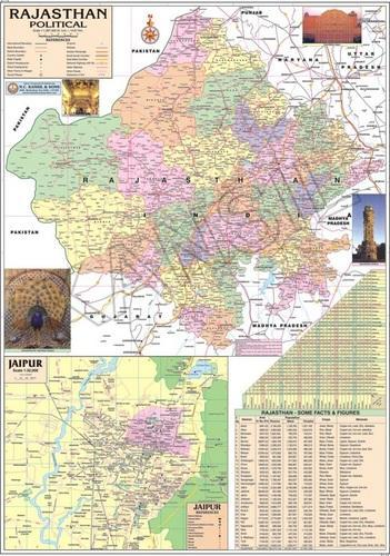 Political map of rajasthan at rs 130 piece political state maps political map of rajasthan altavistaventures Gallery