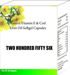 Natural Vitamin E and Cod Liver Oil Softgel Capsules