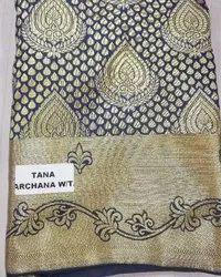 Blue South india pattern South Silk Saree