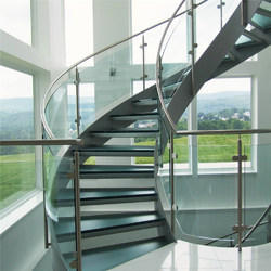 SS Glass Staircase Railing