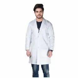 White Knee Length Lab Coat