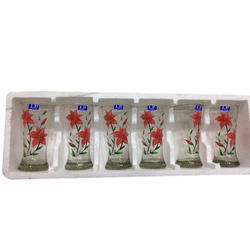 Red Crystal Water Glass Set