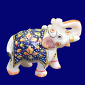 Marble Inlay Design Handmade Elephant