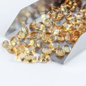Natural Citrine in Brilliant Cut Gemstones in Assortment for Jewelry Making