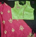 Wedding Wear Silk Girls Crop Top 45, Size: 38-40, Age: 11y To 13y