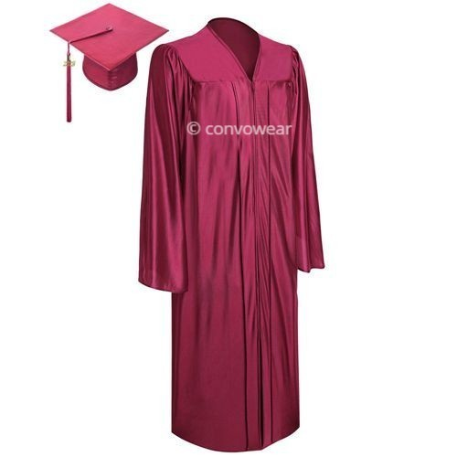Maroon Satin Graduation Gown And Hat, Size: Free Size, Rs 200 /set ...