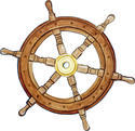 Pirate Nautical Ship Steering Wheel
