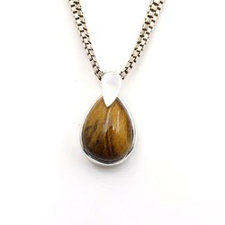 Silver Tiger Eye Necklace
