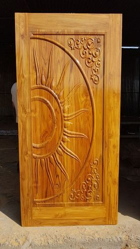 Sun Carved Teak Door