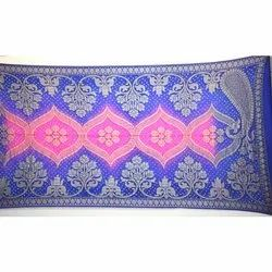 Blue and Pink Shaded Banarasi Georgette Bandhani Dupatta