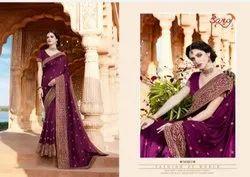 Party Wear Designer Silk Saree