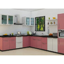 Kube Stainless Steel L Shape Modular Kitchen, For Residential, Warranty: 1-5 Years