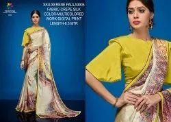 Rachna Crepe Silk Digital Printed Serene Paula Catalog Saree For Women 6