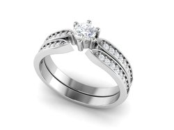 925 Sterling Silver Shank Wedding Engagement Ring