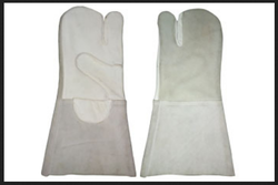 White Unisex Mitten Gloves NM313.35. (NTGS)