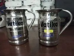 Vatika Silver Stainless Steel Water Jug, For Kitchen, Capacity: 1.5 Ltr