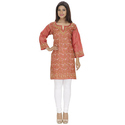 Available In Various Color Long Lucknowi Silk Kurti
