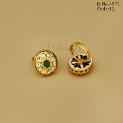 Traditional Antique Kundan Finger Ring