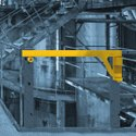 single bar industrial safety gate