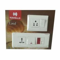 Plastic Havells Electric Modular Switch, Ip65, Finishing Type: Glossy Finish