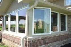 RK Framing Hinged UPVC Combination Window, Glass Thickness: 5-9 Mm