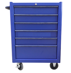 Blue Rectangular KRB13007KPRR Rollcab 6 Drawers