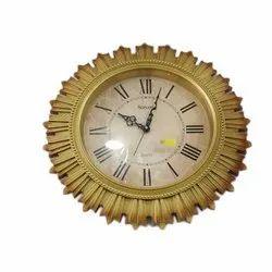 Plastic And Glass Quartz Decorative Wall Clock