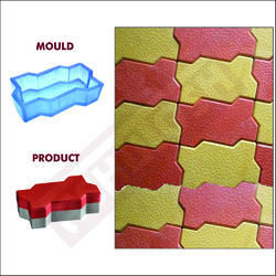 Rubber Mould for Paver Block Double Hex 60 MM