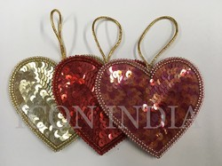 Handmade Christmas Hearts Hanging