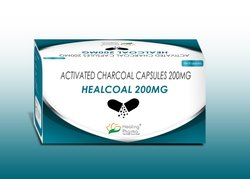 Activated Charcoal Capsule - Healcoal 200mg, Packaging Type: Strips