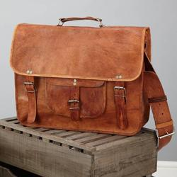 Laptop Leather Satchel With Handle