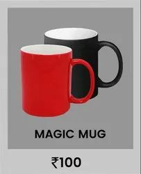 Black & Red Ceramic Sublimation Magic Mug for Home and Office