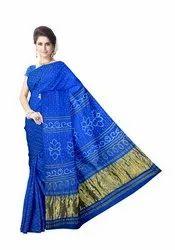 All Over Sky Blue Color Gaji Silk Bandhani Saree