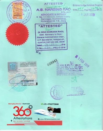 Certificate Attestation For Uae In Kadapa By 360 Attestations Services Id 20677494191