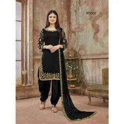 Ladies Art Silk Punjabi Suit