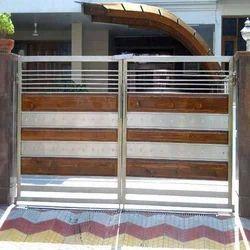 Steel Wooden Gates