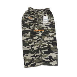 Regular Wear Cotton Boys Army Print Capri