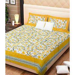 Jaipuri Cotton King Size Bed Sheets