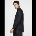 Green Hill Men''S Designer Black  Shirt