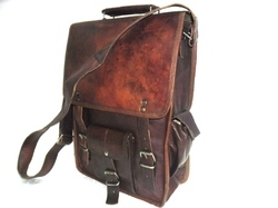 Vintage Leather Portrait Shoulder Bag