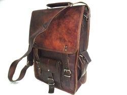 Vintage Leather Portrait Shoulder Bag