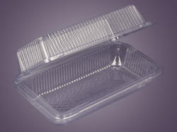 Plastic Disposable Rectangle Tray With Lid 003-0821