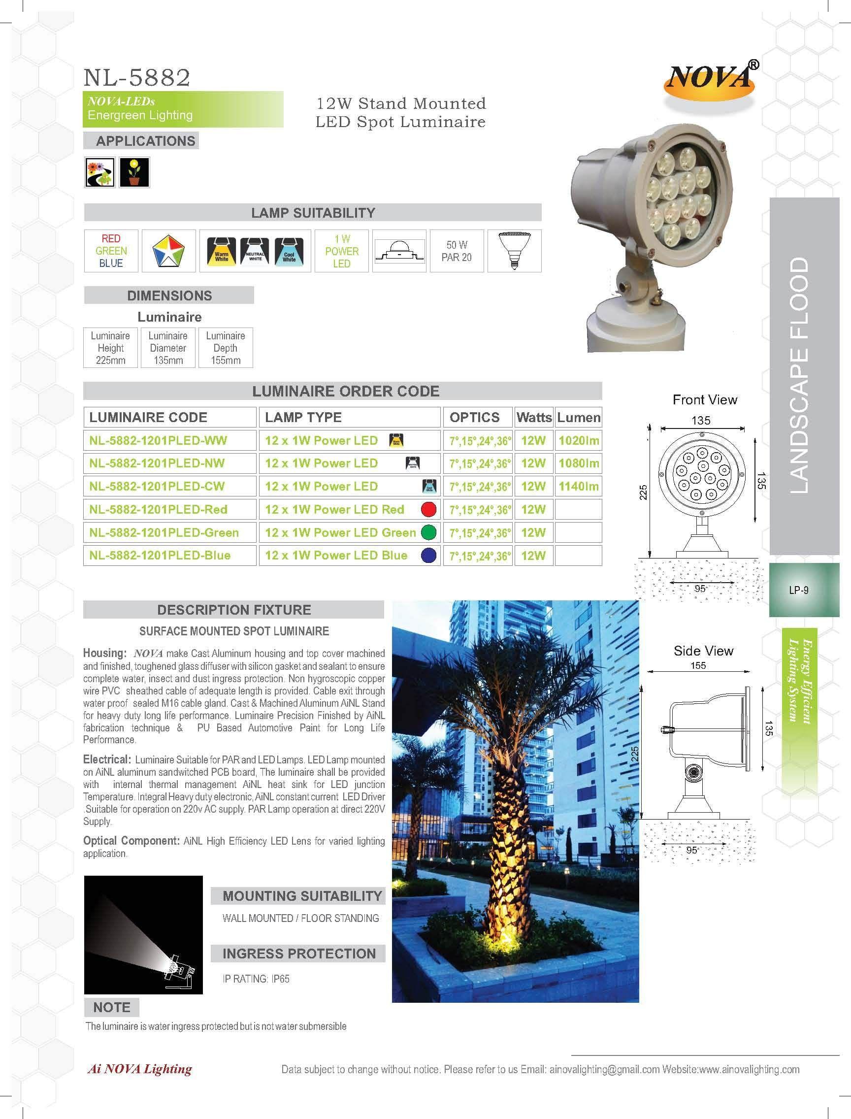 Nova Aluminium Landscape Lighting Rs 5900 Piece Ai Nova Lighting Id 9502600397