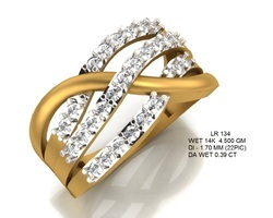Glimmers White Diamond and gold finger rings, Diamonds