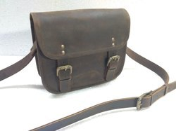 Rustic Leather Cross Body Saddle Bag