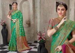 Designer Cotton Silk Chit Pallu Saree